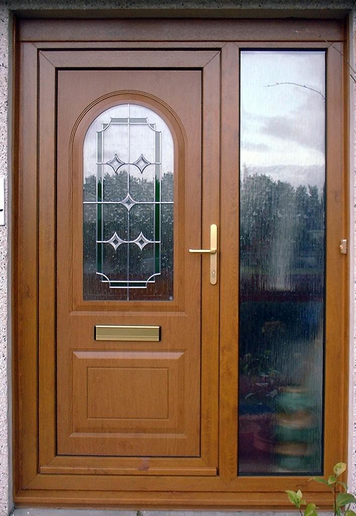 Antique oak door